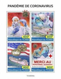 Stamps CHAD (TCHAD) / 2020 Coron. pandemic