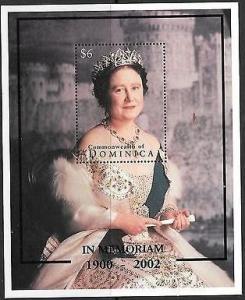 DOMINICA SHEET QUEEN ELIZABETH IN MEMORIAM ROYALTY