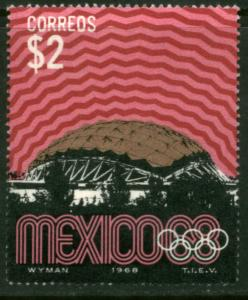 MEXICO 999, $2P 1968 Olympics, Mexico City Mint, NH. VF.