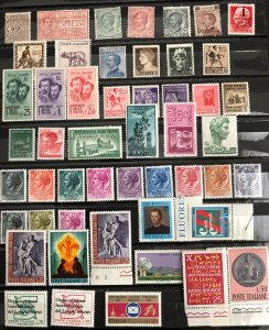 Italy Italia - collection lot of 50 mint / MNH stamps