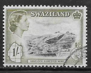 Swaziland 61: 1/- Asbestos Mine, used, VF