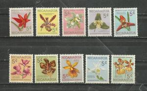 Nicaragua Scott catalogue #RA66-RA75 Unused Hinged