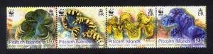 Pitcairn Islands Sc# 743 MNH WWF / Fluted Giant Clam (Strip)