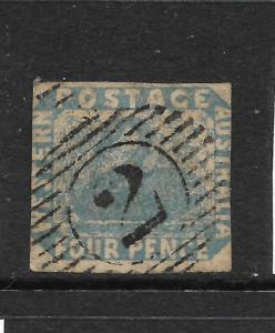WESTERN AUSTRALIA  1860-64  2d   BLUE  SWAN  FU  WMK S/W   SG 26a