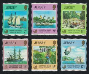 Jersey Operation Drake Ships 6v SG#238-243