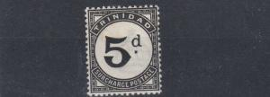 TRINIDAD & TOBAGO  1944   S G D22  5D  BLACK    POSTAGE DUE  MH  CAT £40