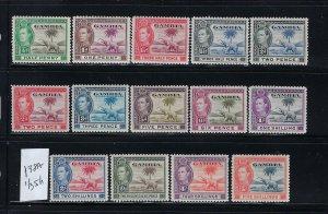 GAMBIA SCOTT #132-138(MISSING 138A) 139-143-1938-46 GEORGE VI - MINT HINGED