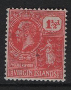VIRGIN ISLANDS, 56, HINGED, 1922-28, Colony seal