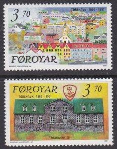 Faroe Islands Sc #222-223 MNH