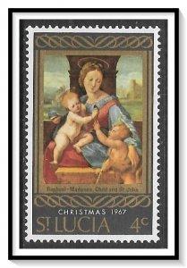 St Lucia #227 Christmas MNH