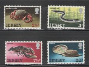Jersey Sc 91-4 1973 Sea Life stamps mint NH