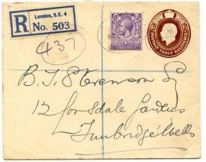 Uprated Postal Stationery Envelope (EP61Size H) to Tunbridgewells