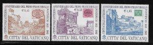 VATICAN CITY, 1221-1223, MNH, SET OF 3,