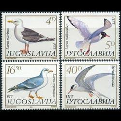 YUGOSLAVIA 1984 - Scott# 1687-90 Birds Set of 4 NH