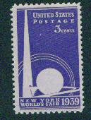USA Scott 853 MNH** New York Worlds Fair 1939