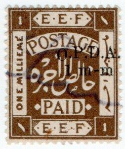 (I.B) Palestine Revenue : Ottoman Public Debt 1mm on 1m OP (OPDA) misplaced type
