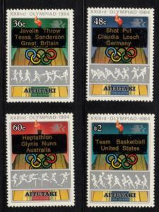 Aitutaki Sc 342-5 1984 Olympics stamp set mint  NH
