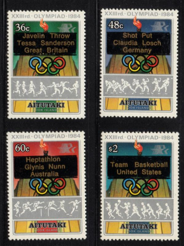Aitutaki Sc 342-5 1984 Olympics stamp set mint  NH