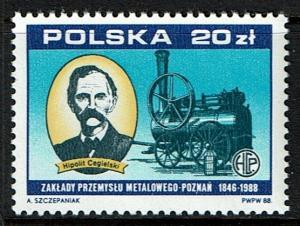Poland Scott 2882 MNH (1988) Trains