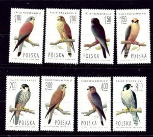 Poland 2074-81 MNH 1975 Birds