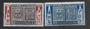 TRIESTE - ZONE A SC# 146-7 FVF/MNH 1952