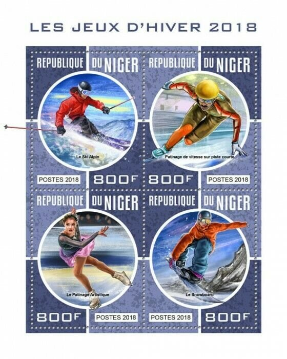 HERRICKSTAMP NEW ISSUES NIGER Winter Games 2018 Sheetlet
