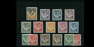 NORHTERN RHODESIA #25-30, #32-40, MNH never hinged Cat $50+ Mint stamps