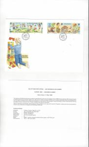 Isle of Man 395-98 Childrens Games 1989  Official FDC