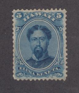 Hawaii Sc 32 MNG. 1866 5c blue almost VF