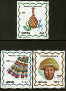 MEXICO 1220-1222 Typical Arts and crafts, COMPLETE SET. MINT, NH. VF.