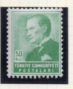 Turkey 1955 Early Issue Fine Mint Hinged 50k. NW-18215