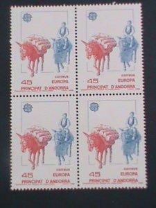ANDORRA-SPAIN-1988 SC#185-LES BONS,THE MEDIEVAL ROAD -MNH BLOCK OF 4-VF