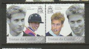 Tristan Da Cunha 2003 21st Birthday Prince William UM/MNH SG 779a