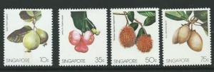 SINGAPORE SG519/22 1986 FRUITS   MNH