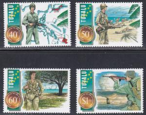 Tuvalu # 704-707, End of World War II 50th Anniversary, NH, 1/2 Cat.