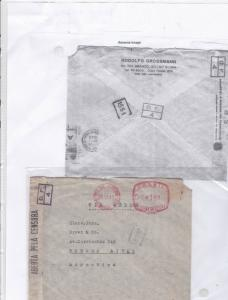 Brazil rio de janeiro machine cancel censor stamps cover Ref 9608