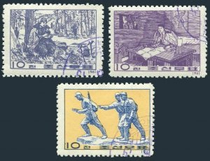 Korea 342-344, CTO. Michel 332-334. Ten-Point Program, 15th Ann. 1961.