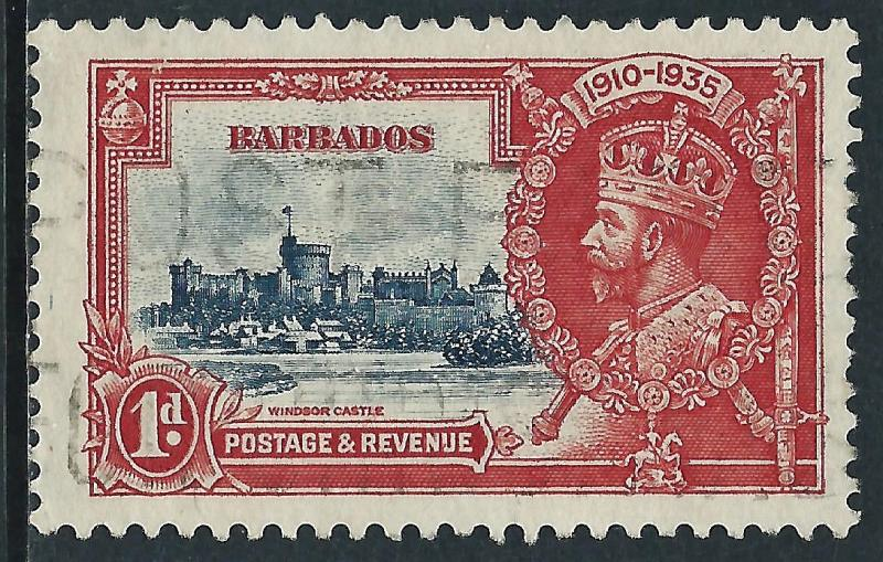 Barbados, Sc #186, 1d Used