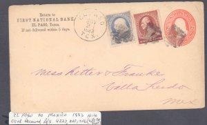 El Paso County El Paso to Mexico ( Postal History ), 1883
