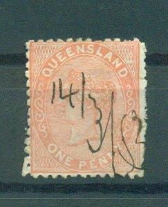 Queensland sc# 57 (2) used cat value $10.00
