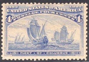 US Stamp Scott #233 Mint Never Hinged SCV $140