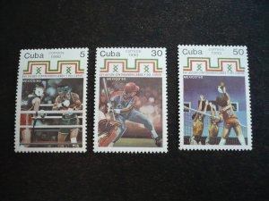 Stamps - Cuba - Scott# 3284-3286 - MNH Set of 3 stamps