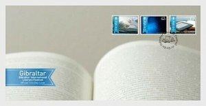 2013  GIBRALTAR  -  SG:1506/08 - LITERARY FESTIVAL SET  ON FIRST DAY COVER