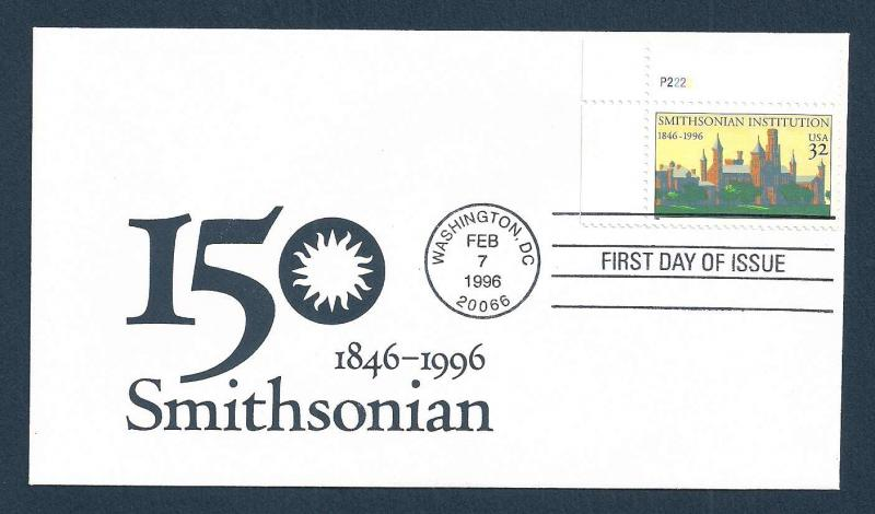 UNITED STATES FDC 32¢ Smithsonian 1996 cacheted