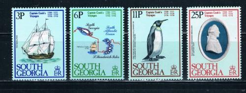 South Georgia 52-55 MNH Set Capt Cook  (S0201)