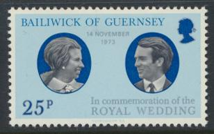 Guernsey  SG 93  SC# 90  MLH Royal Wedding  see details