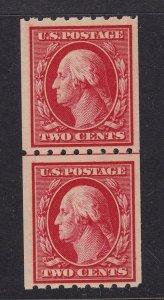 391 Line Pair F-VF original gum never hinged nice color cv $ 575 ! see pic !