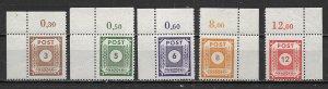 Germany East Saxony 15N16-20 Perf Numerals set MNH