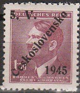 Stamp Germany Czech Bohemia O150 WW2 3rd Reich Hitler Overprint MNH