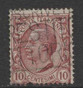 Italy - Scott 95 - Definitive -1906 - Used - Single 10c Stamp